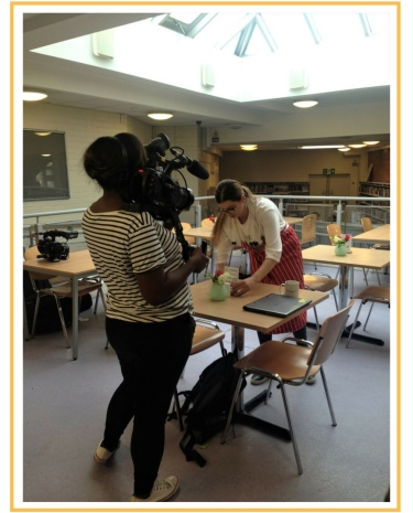 BBC filming behind the scenes at the Citrus Cafe for The Real Junk Food Project