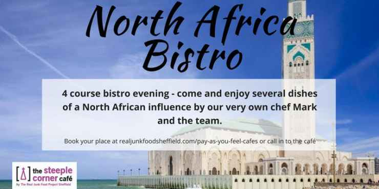 North African Bistro held at The Steeple Corner Cafe for The Real Junk Food Project Sheffield